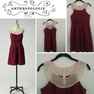 Exquisite burgundy Anthropologie dress, 8 & 10/12